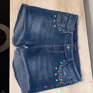 Blue jean shorts, brand vigoss, size 16 girls